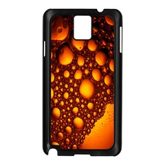 Bubbles Abstract Art Gold Golden Samsung Galaxy Note 3 N9005 Case (Black)