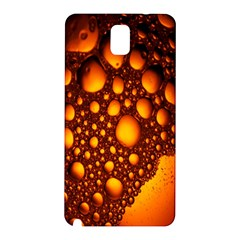 Bubbles Abstract Art Gold Golden Samsung Galaxy Note 3 N9005 Hardshell Back Case