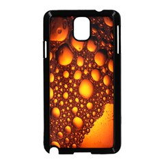 Bubbles Abstract Art Gold Golden Samsung Galaxy Note 3 Neo Hardshell Case (Black)