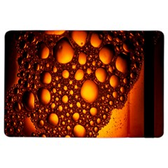 Bubbles Abstract Art Gold Golden iPad Air 2 Flip