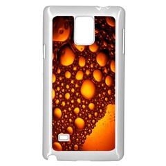 Bubbles Abstract Art Gold Golden Samsung Galaxy Note 4 Case (white)