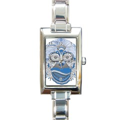 Pattern Monkey New Year S Eve Rectangle Italian Charm Watch