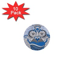 Pattern Monkey New Year S Eve 1  Mini Buttons (10 Pack)