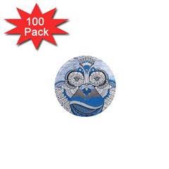 Pattern Monkey New Year S Eve 1  Mini Magnets (100 Pack)