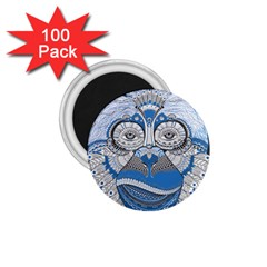Pattern Monkey New Year S Eve 1.75  Magnets (100 pack)