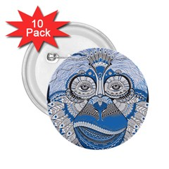 Pattern Monkey New Year S Eve 2.25  Buttons (10 pack)