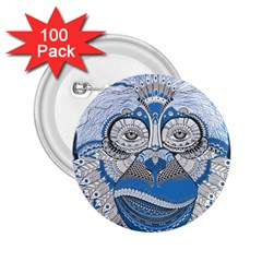 Pattern Monkey New Year S Eve 2.25  Buttons (100 pack)