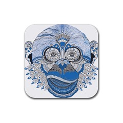 Pattern Monkey New Year S Eve Rubber Square Coaster (4 pack)
