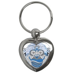 Pattern Monkey New Year S Eve Key Chains (heart)
