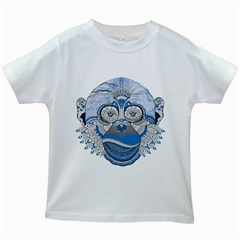 Pattern Monkey New Year S Eve Kids White T Shirts