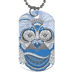 Pattern Monkey New Year S Eve Dog Tag (one Side)