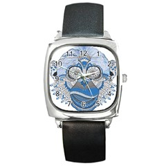Pattern Monkey New Year S Eve Square Metal Watch