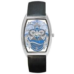 Pattern Monkey New Year S Eve Barrel Style Metal Watch