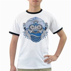 Pattern Monkey New Year S Eve Ringer T Shirts