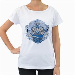 Pattern Monkey New Year S Eve Women s Loose-Fit T-Shirt (White)