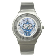 Pattern Monkey New Year S Eve Stainless Steel Watch