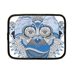 Pattern Monkey New Year S Eve Netbook Case (Small)