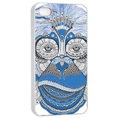 Pattern Monkey New Year S Eve Apple iPhone 4/4s Seamless Case (White)