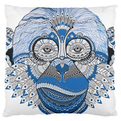 Pattern Monkey New Year S Eve Large Cushion Case (Two Sides)