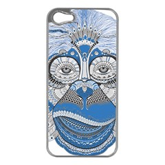 Pattern Monkey New Year S Eve Apple iPhone 5 Case (Silver)