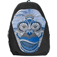 Pattern Monkey New Year S Eve Backpack Bag