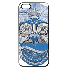 Pattern Monkey New Year S Eve Apple Iphone 5 Seamless Case (black)