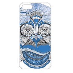 Pattern Monkey New Year S Eve Apple iPhone 5 Seamless Case (White)