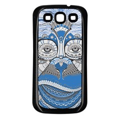 Pattern Monkey New Year S Eve Samsung Galaxy S3 Back Case (Black)