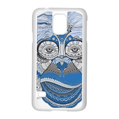 Pattern Monkey New Year S Eve Samsung Galaxy S5 Case (White)
