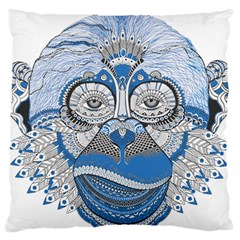 Pattern Monkey New Year S Eve Large Flano Cushion Case (One Side)