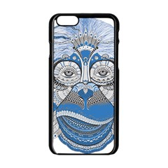 Pattern Monkey New Year S Eve Apple iPhone 6/6S Black Enamel Case