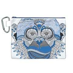 Pattern Monkey New Year S Eve Canvas Cosmetic Bag (xl)