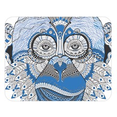 Pattern Monkey New Year S Eve Double Sided Flano Blanket (large)
