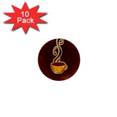 Coffee Drink Abstract 1  Mini Buttons (10 pack)