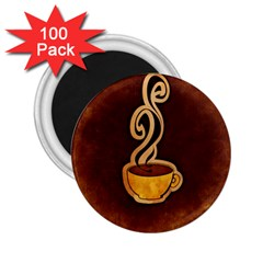 Coffee Drink Abstract 2.25  Magnets (100 pack)
