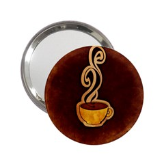 Coffee Drink Abstract 2.25  Handbag Mirrors