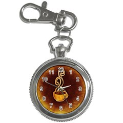 Coffee Drink Abstract Key Chain Watches