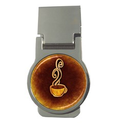 Coffee Drink Abstract Money Clips (Round)