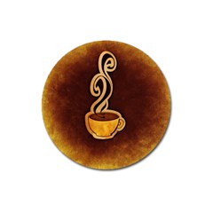 Coffee Drink Abstract Magnet 3  (Round)