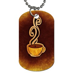 Coffee Drink Abstract Dog Tag (One Side)