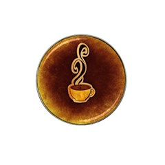 Coffee Drink Abstract Hat Clip Ball Marker (4 pack)