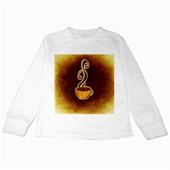 Coffee Drink Abstract Kids Long Sleeve T Shirts