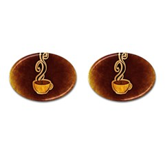 Coffee Drink Abstract Cufflinks (oval)