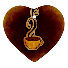 Coffee Drink Abstract Heart Ornament (two Sides)