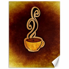 Coffee Drink Abstract Canvas 12  X 16