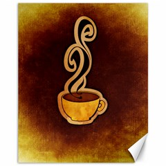 Coffee Drink Abstract Canvas 11  X 14