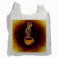 Coffee Drink Abstract Recycle Bag (two Side)