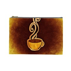 Coffee Drink Abstract Cosmetic Bag (Large)