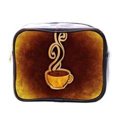 Coffee Drink Abstract Mini Toiletries Bags