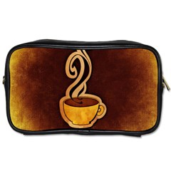 Coffee Drink Abstract Toiletries Bags